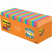 POST-IT 654-24SSAU-CP SUPER STICKY NOTES 76X76 MM RIO DE JANEIRO COLLECTION PACK 24